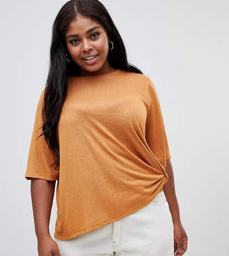 Asos DESIGN Curve relaxed t-shirt with knot side