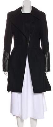Altuzarra Leather-Paneled Wool Coat