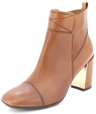 Hispanitas Brown Block Heel Bootie