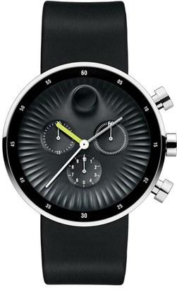 Movado 'Edge' Chronograph Silicone Strap Watch, 42Mm $795 thestylecure.com