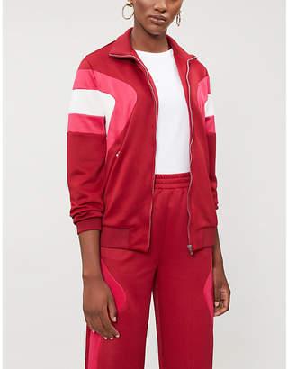 Maje Panelled sports-jersey jacket