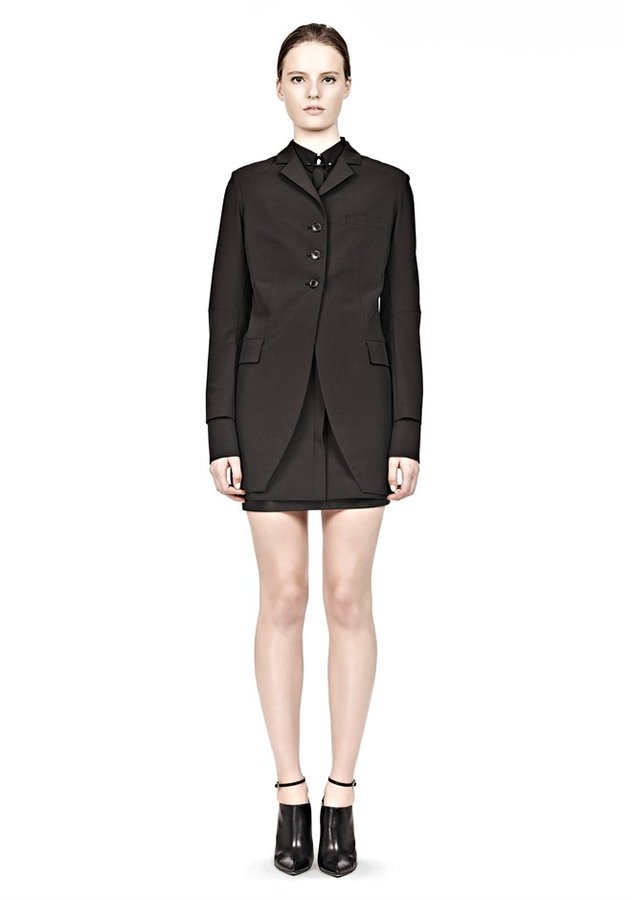 Alexander Wang Long Cut Away Blazer