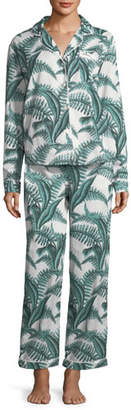 Desmond & Dempsey Fern Long-Sleeve Long Pajama Set