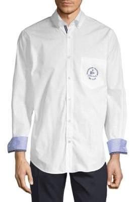 Paul & Shark Contrast Logo Button-Down Shirt