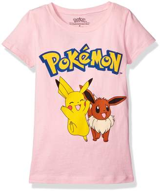 Pokemon Freeze Kids girls Girls Pikachu & Eevee Tee