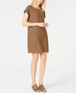 Eileen Fisher Boat-Neck TencelLinen Dress, Regular & Petite