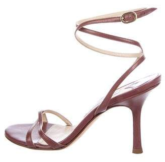 Jimmy Choo Leather Ankle Strap Sandals