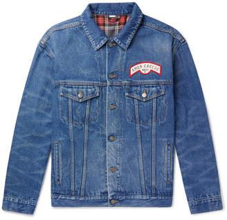 Gucci Oversized Appliquéd Denim Jacket