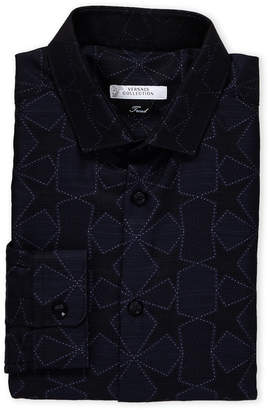 Versace Navy Star Trend Fit Dress Shirt