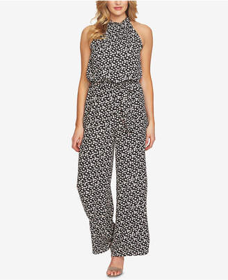 CeCe Floral-Print Belted Jumpsuit