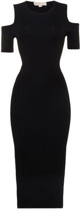 Michael Kors Cold shoulder crew neck dress