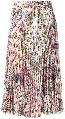 RED Valentino RED (V) floral pleated midi skirt