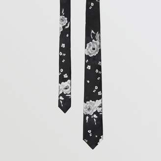 Burberry Slim Cut Floral Silk Tie
