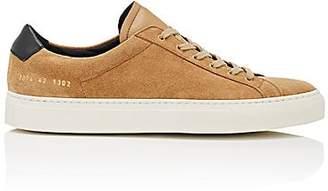 Common Projects Men's Achilles Retro Suede Sneakers - Beige, Tan