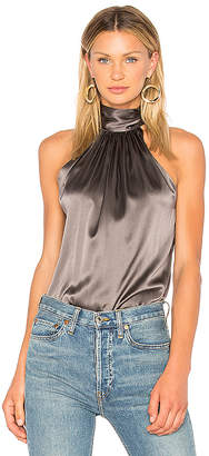 RAMY BROOK Paige Tie Neck Tank in Gray $295 thestylecure.com