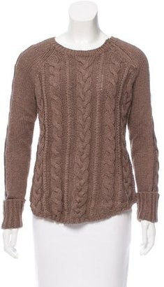 Brochu Walker Crew Neck Cable Knit Sweater $95 thestylecure.com