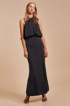 C/Meo Collective SUFFUSE GOWN black stripe