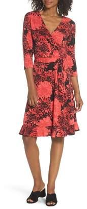 Leota Perfect Floral Ruffle Hem Dress