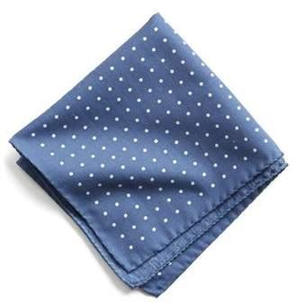 Todd Snyder Italian Cotton Polka Dot Pocket Square