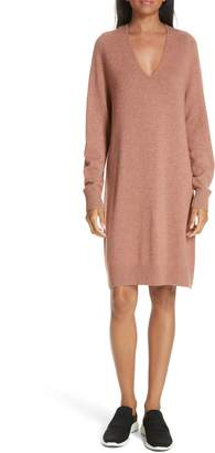 Vince Deep V-Neck Sweater Dress