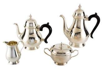 Tiffany & Co. 4-Piece Sterling Queen Anne Coffee and Tea Set
