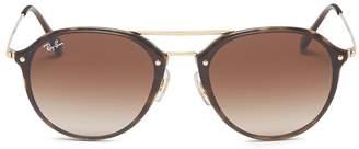 Ray-Ban 'Blaze' tortoiseshell acetate rim metal round sunglasses