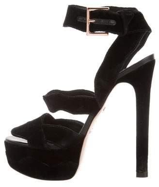 Ruthie Davis Velvet Platform Sandals