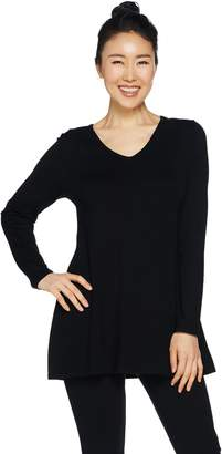 Susan Graver Modern Essentials Rayon Nylon A-Line Sweater