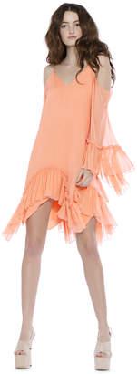 Alice + Olivia Ilaria Cold Shoulder Angel Sleeve Dress