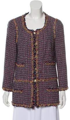 Chanel Chain-Link-Accented Tweed Jacket