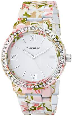 Vernier Women's VNR11168E Rhinestone-Accented Watch