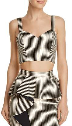 Alice + Olivia Cristi Striped Bustier Top