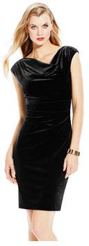 Vince Camuto Fitted Velvet Dress