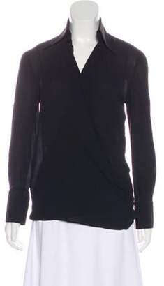 Dolce & Gabbana Point-Collar Wrap Blouse Black Point-Collar Wrap Blouse