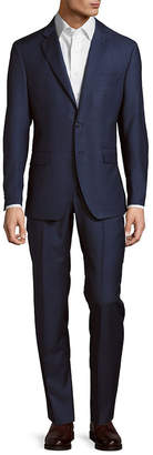 Saks Fifth Avenue Made In Italy Modern Fit Solid Wool Suit