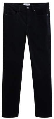 Violeta BY MANGO Corduroy straight trousers