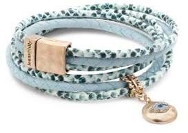 lonna & lilly Crystal Evil Eye Wrap Bracelet