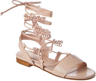 RED Valentino Flying Up Leather Sandal
