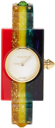 Gucci Multicolor Rainbow Plexiglass Watch