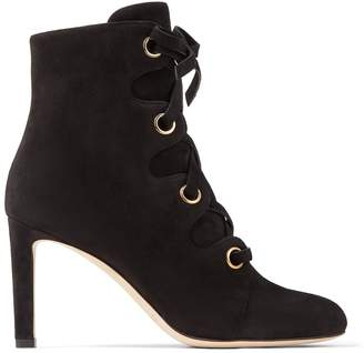 Jimmy Choo Blayre 85 Suede Lace-Up Boots