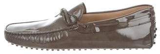 Tod's Patent Leather Driving Loafers