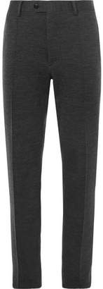 Brioni Dark-Grey Mélange Stretch-Virgin Wool Suit Trousers