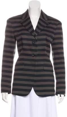 Prada Stripe Structured Blazer