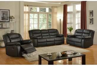 Red Barrel Studio Koury Reclining 3 Piece Living Room Set Red Barrel Studio