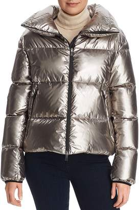 Herno Laminar Cropped Metallic Down Coat