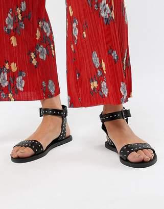 New Look 2-Part Stud Flat Sandal