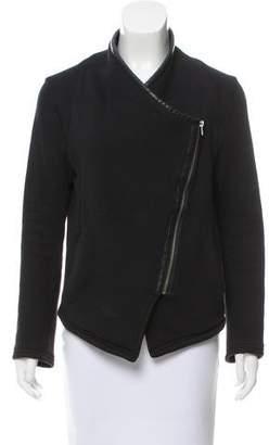 BB Dakota Vegan Leather-Trimmed Knit Jacket