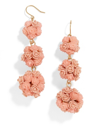 Floral Crispin Ball Drop Earrings $48 thestylecure.com