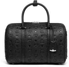MCM Medium Essential Monogrammed Boston Bag