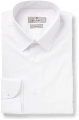 Canali Slim-Fit Stretch-Cotton-Poplin Shirt
